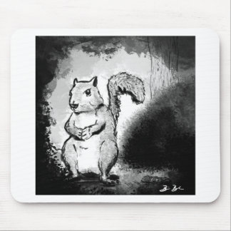 Inky Squirrel Mouse Pad