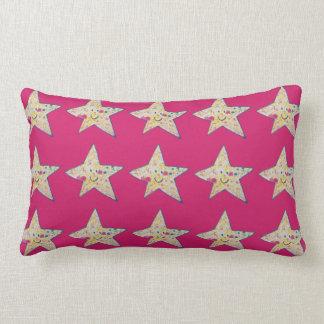 Inky star lumbar pillow