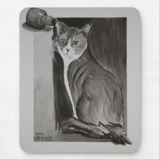 Inky the Cat Mouse Pad