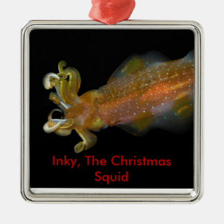 Inky, The Christmas Squid Ornament