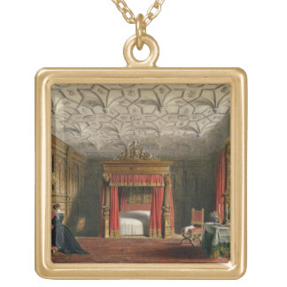 Inlaid Chamber, Sizergh, Westmoreland, 1849 (w/c o Gold Plated Necklace