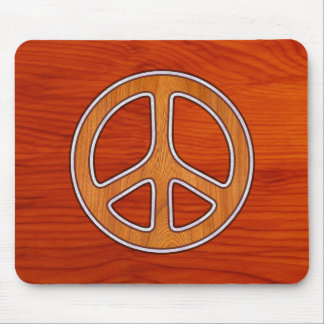 Inlaid Peace Mouse Pad