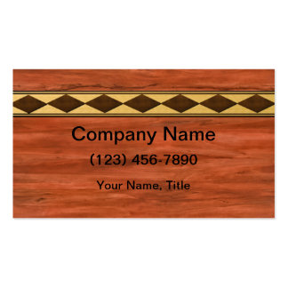 Inlaid Wood Design Business Card