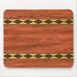 Inlaid Wood Design Mouse Pad