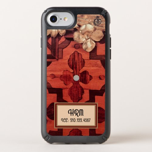 Inlaid wood with Gold Gilded Floral wreath Speck iPhone Case