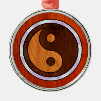 Inlaid Yin Yang Metal Ornament