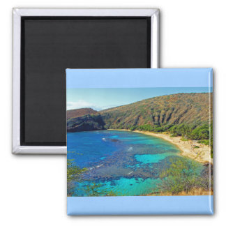 Inland, Hanauma Bay 4, Honolulu, Oahu 2 Inch Square Magnet