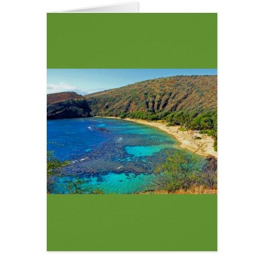 Inland, Hanauma Bay 4, Honolulu, Oahu Greeting Card