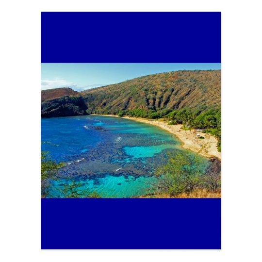 Inland, Hanauma Bay 4, Honolulu, Oahu Postcard