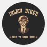 Inlaw Biker II Round Sticker