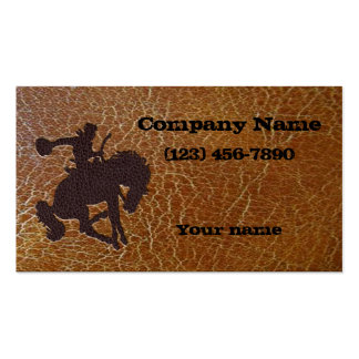 Inlayed Rodeo Roder Business Card