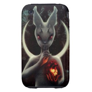 """INLÉ"" Black Rabbit iPhone Case Tough iPhone 3 Case"