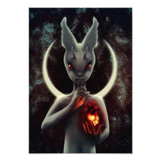 """INLÉ"" Black Rabbit Print"