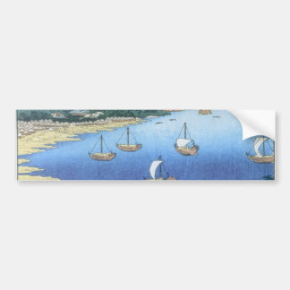 Inlet at Awa Province by Ando Hiroshige Bumper Sticker