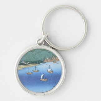 Inlet at Awa Province by Ando Hiroshige Keychain