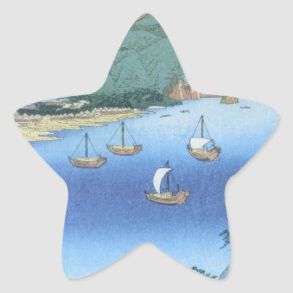 Inlet at Awa Province by Ando Hiroshige Star Stickers