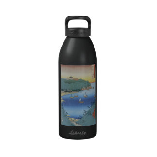 Inlet at Awa Province by Ando Hiroshige Drinking Bottle