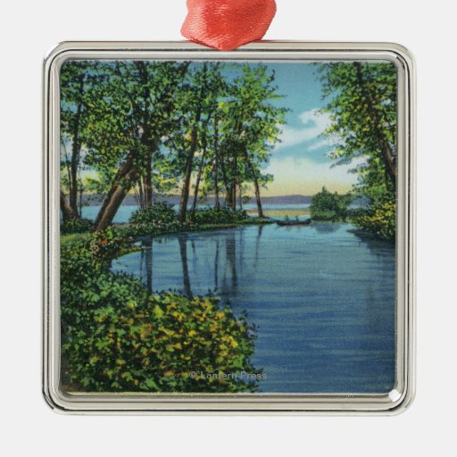 Inlet Entrance View Christmas Tree Ornament