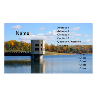 inlet outlet tower for a reservoir business card templates