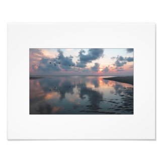 Inlet Sunrise Pink and Purple Photo Print