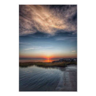 Inlet Sunrise Poster