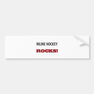 Inline Hockey Rocks Car Bumper Sticker
