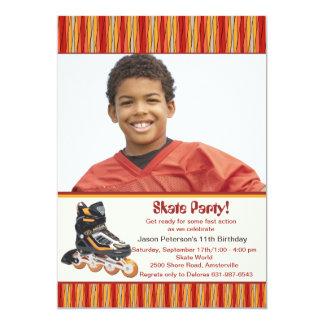 Inline Skate Photo Invitation
