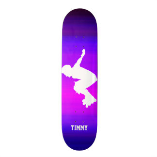 Inline Skater; Vibrant Violet Blue and Magenta Skateboard Deck
