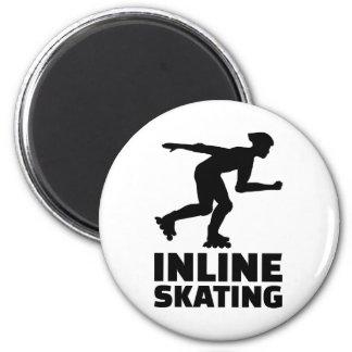Inline skating 2 inch round magnet