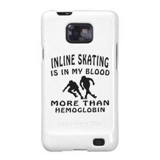 Inline Skating Design Galaxy SII Covers