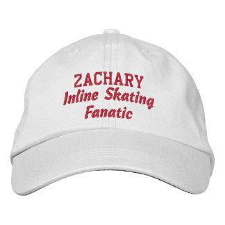 Inline Skating Fanatic Custom Name Baseball Cap