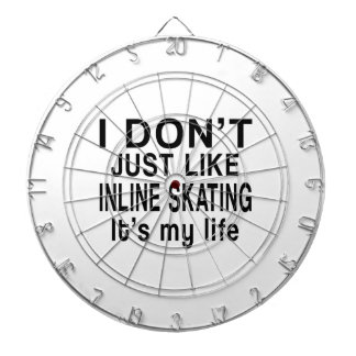 INLINE SKATING IS MY LIFE DARTBOARD WITH DARTS