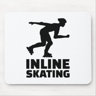 Inline skating mouse pad