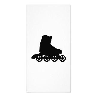 Inline skating photo greeting card