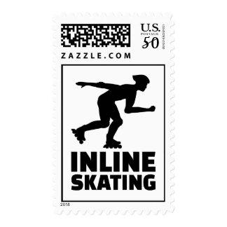 Inline skating postage