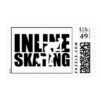 Inline skating postage stamp