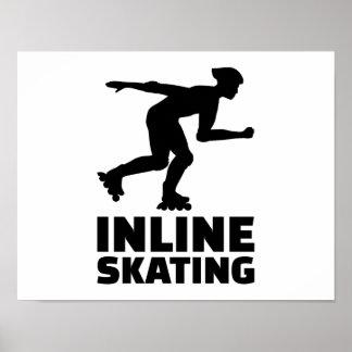 Inline skating poster