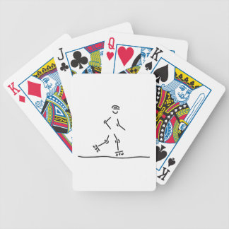 inline skating scooter roller skate bicycle playing cards