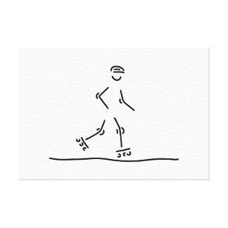 inline skating scooter roller skate canvas print