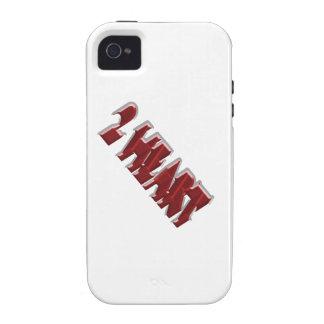 Inlove que cae de 2 corazones iPhone 4 carcasas