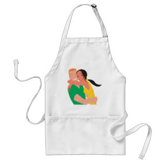 inlove_Vector_Clipart love dating man woman Adult Apron