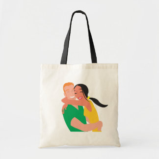 inlove_Vector_Clipart love dating man woman Budget Tote Bag