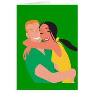 inlove_Vector_Clipart love dating man woman Greeting Card