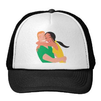 inlove_Vector_Clipart love dating man woman Trucker Hat