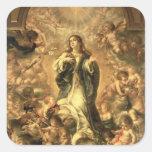 Inmaculada Concepción, 1670-1672 Pegatinas Cuadradas