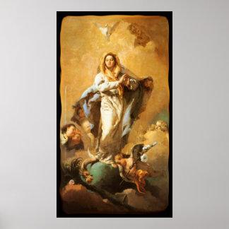 Inmaculada Concepción con las querubes - Tiepolo Impresiones
