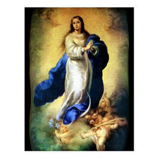Inmaculada Concepción del Virgen María - Murillo Postal
