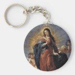Inmaculada Concepción Llavero Redondo Tipo Pin