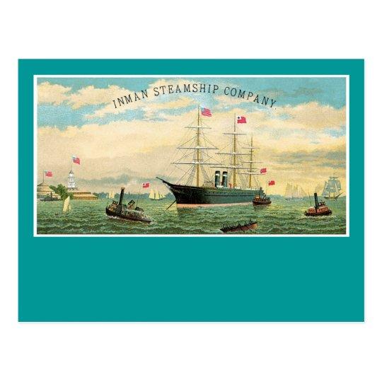Inman Steamship Company Postcard