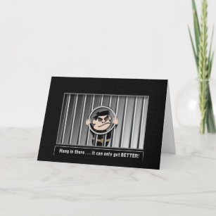 Prison Card Encouragement Card Prison Greeting Card Cat Card Miss You Card Inmate Card Funny Prison Card Cat Card Humorous Card